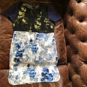 Ivanka Trump floral shift  ombre sheath work dress